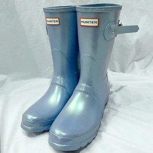 NEW US 7/8 Hunter Original Short Nebula Rain Boot